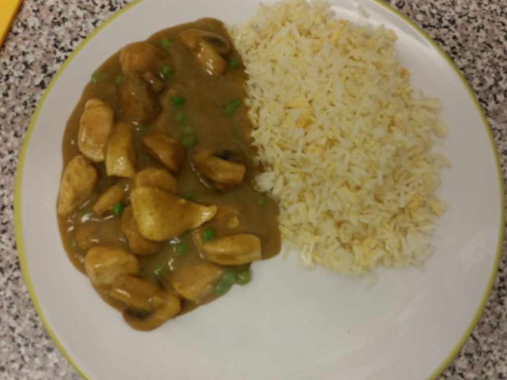 Homemade Chinese Takeaway Style Chicken Mushroom Curry